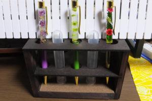 ハーバリウムボールペン完成品3種類(紫、黄緑、クリスマスカラー)