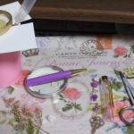 ハーバリウムボールペン、紫Vew作成リベンジ