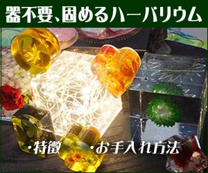 固めるハーバリウム「クリスタル・アートリウム(R)」の特徴とお手入れ方法