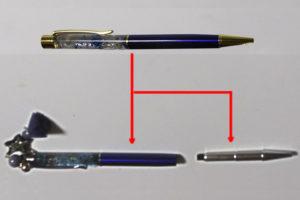 替え芯の交換1 ペン先の取り出し完了