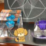 固めるハーバリウム用オイルで作成 青薔薇と紫薔薇